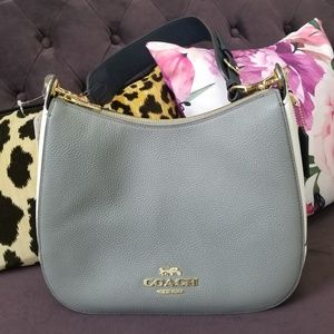 NWT Coach Jes Colorblock Leather Hobo